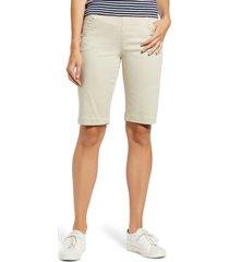 women's liverpool lacie bermuda shorts, size 8 - beige