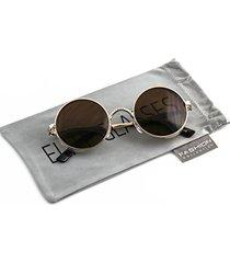 elite gothic steampunk sunglasses for women men round lens metal frame side shie