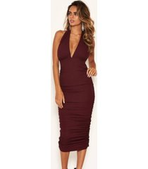 ax paris women's halter neck ruched dress