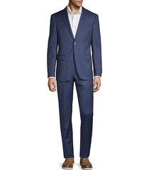 slim-fit pinstripe wool suit