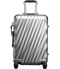 tumi international carry-on luggage - silver