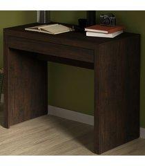 mesa escrivaninha 1 gaveta rústico me4107 - tecno mobili