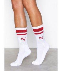 puma crew heritage stripe sock strumpor vit/röd