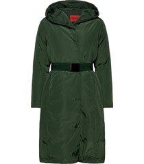 betty gevoerde lange jas groen max&co.