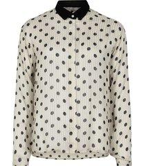 nunanon blouse pristine ecru white & black