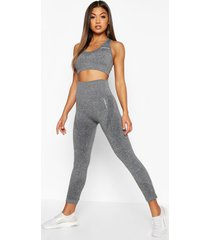 fit supportive waistband seamless leggings, dark grey