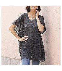 knit tunic, 'grey dreamcatcher' (peru)