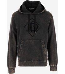 dolce & gabbana designer sweatshirts, washed cotton men's hoodie