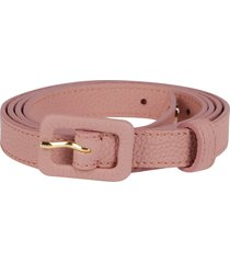 agnona pink leather belt