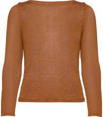 linen-blend boat-neck sweater stickad tröja brun banana republic
