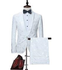 koyye traje de chaqueta con estampado de fiesta de negocios para hombre