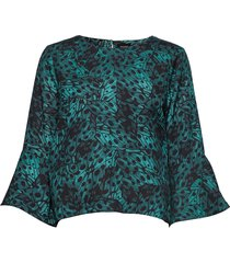 nour blouse blouse lange mouwen groen residus