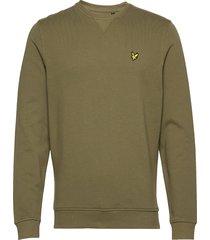 crew neck sweatshirt sweat-shirt trui groen lyle & scott