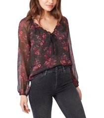 paige alexius metallic thread silk blouse, size x-small in black multi at nordstrom