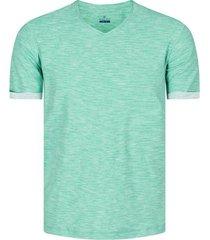 camiseta con textura cuello v hombre 04230