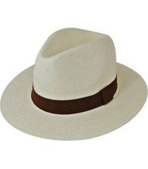 chapéu chapelaria vintage estilo panamá branco - kanui