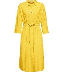 skjortklänning soft cotton slub dress