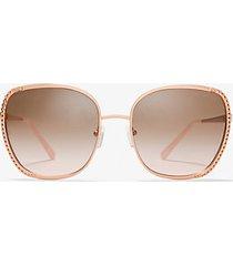 mk occhiali da sole amsterdam - oro rosa (oro rosa) - michael kors