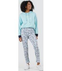 pantalon para mujer print color color blanco, talla l