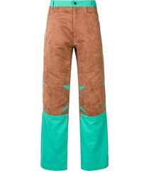 mackintosh 0004 chestnut & turquoise 0004 technical trousers - brown