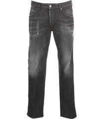 washed skater jeans w / mini verscheurde