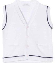 white v-neck vest