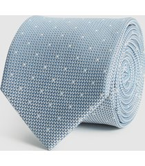 reiss liam - silk polka dot tie in airforce blue, mens