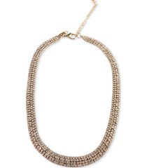 """inc gold-tone rhinestone mesh collar necklace, 15"""" + 4"""" extender, created for macy's"""