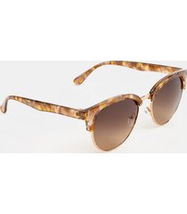 paulina round sunglasses - brown
