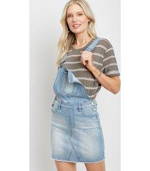 kancan™ womens light wash overall skirt blue - maurices