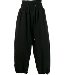 fumito ganryu drawstring oversized trousers - black