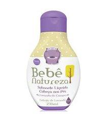 sabonete líquido bebê natureza extrato lavanda hipoalergênico calmante relaxante 230ml