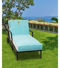 linum home standard size chaise lounge cover with embroidered palm tree bedding