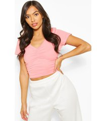 sweetheart neck ruched detail top