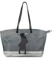 akris women's rodney graham graphic tote - grey