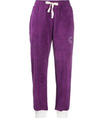 casablanca cropped textured track pants - purple