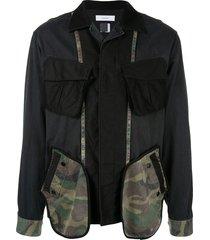 facetasm patchwork cargo jacket - black