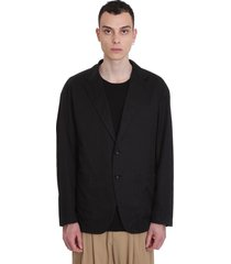 attachment blazer in black cotton