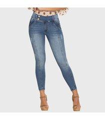 jeans push up bruno azul medio tyt jeans