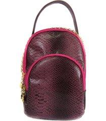 bolsa transversal oval em couro roxo maria adna