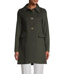 sophie wool-blend a-line coat