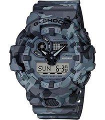 reloj casio ga-700cm-8a anadigi 100% original-gris