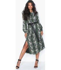 glamorous long sleeve snakeskin dress loose fit dresses
