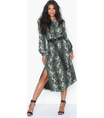 glamorous long sleeve snakeskin dress loose fit dresses