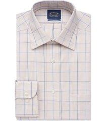 eagle men's big & tall fit non-iron stretch-collar check dress shirt