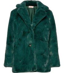 jennabel jacket outerwear faux fur groen unmade copenhagen