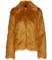 sahn outerwear faux fur orange tiger of sweden jeans