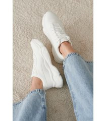 na-kd shoes chunky sneakers - white
