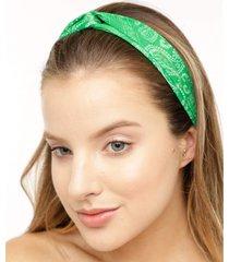 faixa de cabelo bandana verde
