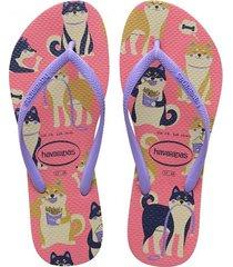 sandalias havaianas slim pets fc 4132567 femenino